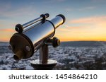 Monocular Telescope At Sunset...