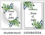 set of printed products for the ... | Shutterstock .eps vector #1454865056