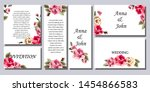 set of printed products for the ... | Shutterstock .eps vector #1454866583