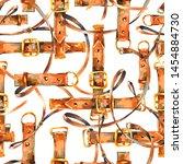vintage watercolor leather belt ... | Shutterstock . vector #1454884730