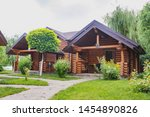 Country Cottages With Log And...