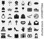 cake icons set. simple style of ... | Shutterstock . vector #1454897066