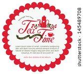 tea time card | Shutterstock .eps vector #145489708