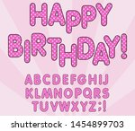 polka dots 3d english alphabet... | Shutterstock .eps vector #1454899703