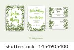 double wedding invitation with... | Shutterstock .eps vector #1454905400