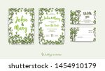 double wedding invitation with... | Shutterstock .eps vector #1454910179