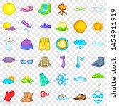 summer weather icons set.... | Shutterstock . vector #1454911919