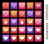 heart icon set | Shutterstock .eps vector #145491220