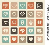 love icons | Shutterstock .eps vector #145491310