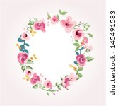 vector flower font capital o | Shutterstock .eps vector #145491583