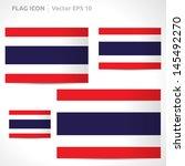 thailand flag template  ... | Shutterstock .eps vector #145492270