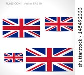 united kingdom flag template  ... | Shutterstock .eps vector #145492333