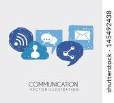 communication icons over white... | Shutterstock .eps vector #145492438