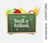 back to school vector... | Shutterstock .eps vector #1454971883