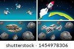ships and satellites in scene ...   Shutterstock .eps vector #1454978306