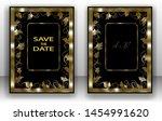 template wedding invitation ... | Shutterstock .eps vector #1454991620