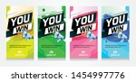 you win word concept vector... | Shutterstock .eps vector #1454997776