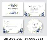 set of wedding invitation card... | Shutterstock .eps vector #1455015116