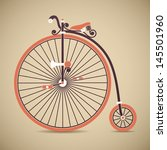 penny farthing vintage bicycle | Shutterstock .eps vector #145501960
