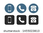 phone icon vector. telephone... | Shutterstock .eps vector #1455023813