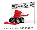 red  best win 3d graphic with... | Shutterstock . vector #145503220
