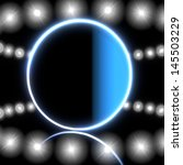 cool black  round sign 3d... | Shutterstock . vector #145503229