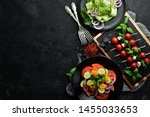 assortment of dishes of... | Shutterstock . vector #1455033653