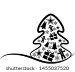 new year and merry christmas... | Shutterstock .eps vector #1455037520