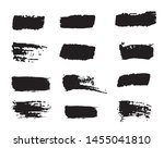 collection of paint strokes... | Shutterstock .eps vector #1455041810
