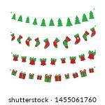 christmas garlands set isolated ... | Shutterstock .eps vector #1455061760