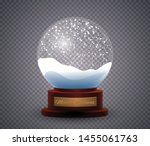 vector christmas snowglobe... | Shutterstock .eps vector #1455061763