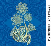 floral pattern background... | Shutterstock .eps vector #145506214