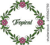 tropical with artwork rose pink ... | Shutterstock .eps vector #1455062750