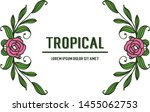 tropical with artwork rose pink ... | Shutterstock .eps vector #1455062753
