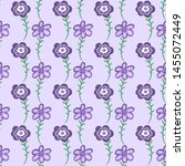 floral seamless texture. purple ... | Shutterstock .eps vector #1455072449