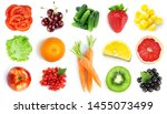 collection of fruits and... | Shutterstock . vector #1455073499