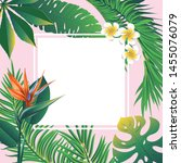 floral banner with tropical... | Shutterstock .eps vector #1455076079