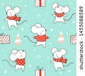 draw seamless pattern... | Shutterstock .eps vector #1455088589