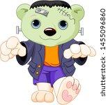polar bear dressed up like for... | Shutterstock . vector #1455096860