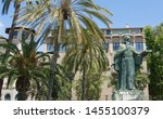 Small photo of PALMA DE MALLORCA, BALEARIC ISLANDS, SPAIN - JUNE, 2019: Monument of Ramon Llull. He was a mathematician, polymath, philosopher, logician, Franciscan tertiary and writer from the Kingdom of Majorca.