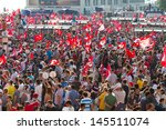 istanbul   july 07  tens of... | Shutterstock . vector #145511074