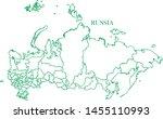 russia green line map vector | Shutterstock .eps vector #1455110993