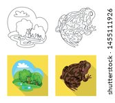 vector illustration of wildlife ... | Shutterstock .eps vector #1455111926