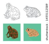 vector design of wildlife and... | Shutterstock .eps vector #1455112589