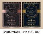 invitation card vector design   ...   Shutterstock .eps vector #1455118100