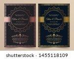 invitation card vector design   ...   Shutterstock .eps vector #1455118109