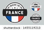 made in france collection of... | Shutterstock .eps vector #1455119213