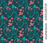 seamless pattern with flowers.... | Shutterstock .eps vector #1455120719