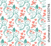 seamless pattern with flowers.... | Shutterstock .eps vector #1455120746