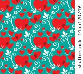 seamless pattern with flowers.... | Shutterstock .eps vector #1455120749